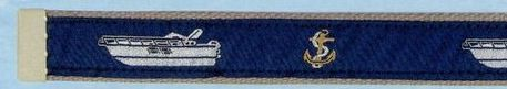 Embroidered Web Belt With Brass Or Silver Tip (Express Cruiser)