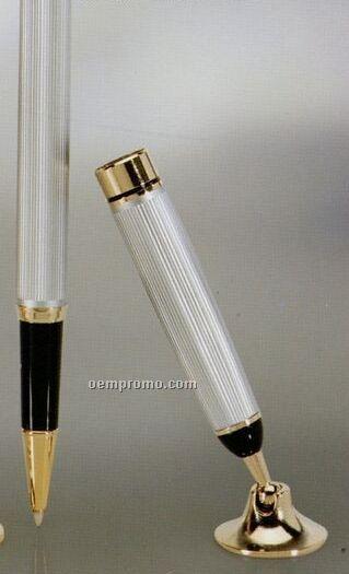 Silver Pen & Funnel