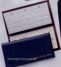 Top Grain Leather Chek-keeper II Checkbook Cover