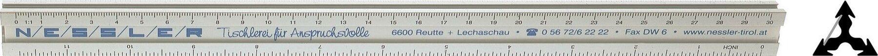 Aluminum Triangle Scale 12''