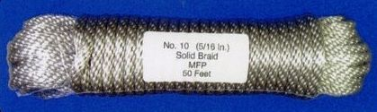 "Silver Pre-bagged Polypropylene Flagpole Halyard (90'x5/16"")"