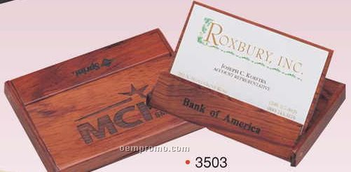 "2-3/4""X3""X1/2"" Rosewood Portable Business Card Display (Screened)"