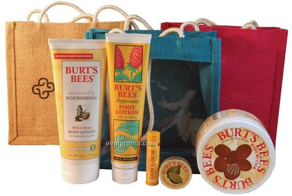 Burt's Bees The Moisture Kit - Medium Jute Bag