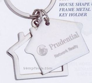 House Shape & Frame Metal Key Holder