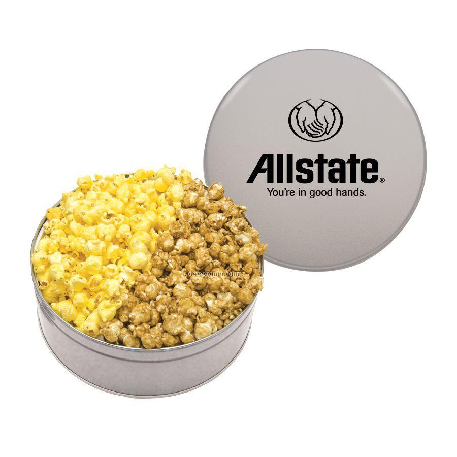 Silver King Size Popcorn Tin