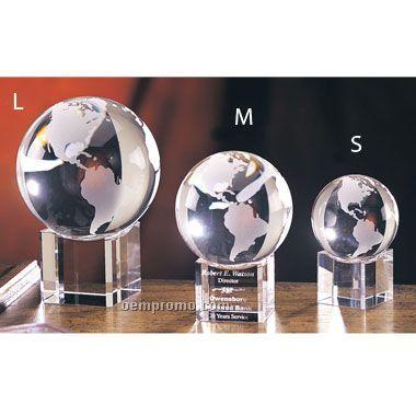 Spinning Globe Optic Crystal (Medium)