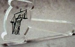 Acrylic Paperweight Up To 12 Square Inches / Gavel