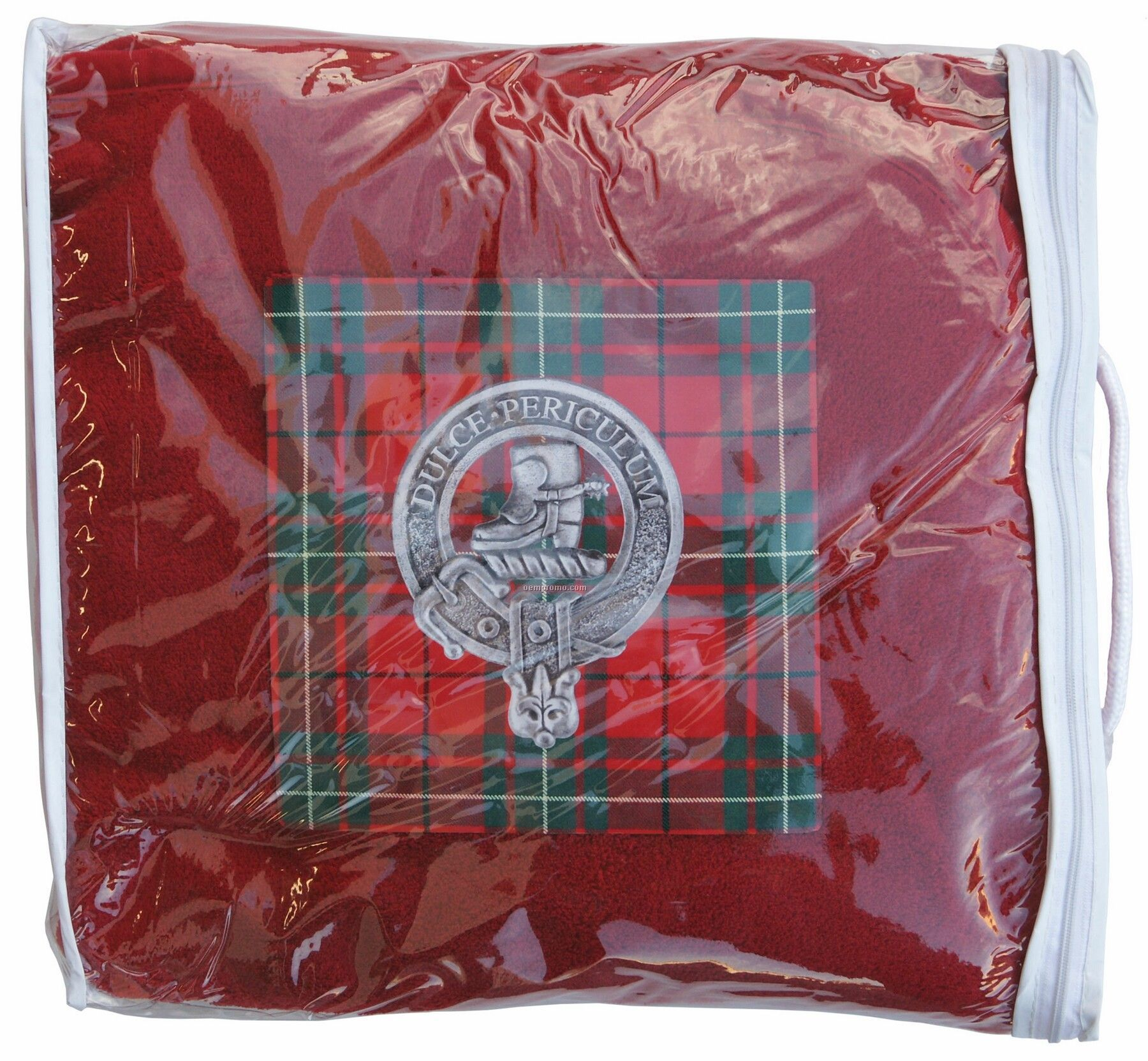 Deluxe Plush Fleece Blanket W/Matching Tricot Trim & Carry Case