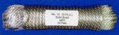 "Silver Pre-bagged Polypropylene Flagpole Halyard (120'x3/8"")"