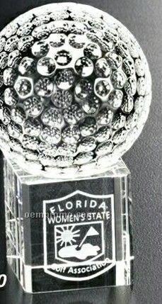 "Sports Gallery Crystal Stratus Golf Award (2 3/8"")"