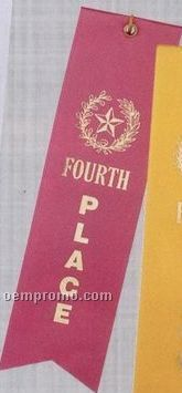 Stock Place Ribbon (Card & String) - 4th Place