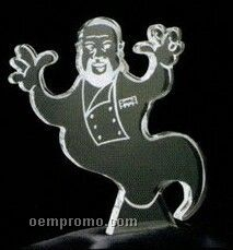 Acrylic Paperweight Up To 12 Square Inches / Genie Or Ghost