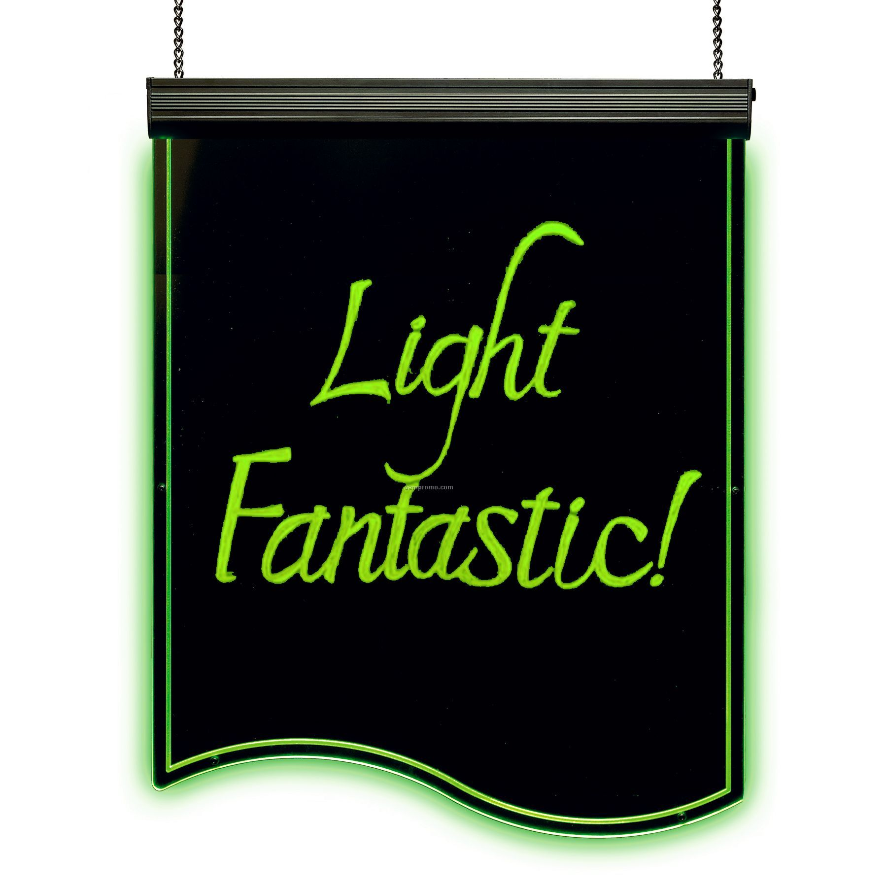 "Color Changing LED Illuminated Write-on Board W/ Curved Bottom (19""X25"")"