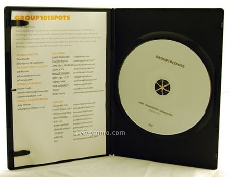 DVD Replication Retail In Black Slim Amaray Case, 4-panel 4/4 Insert (Dvd5)