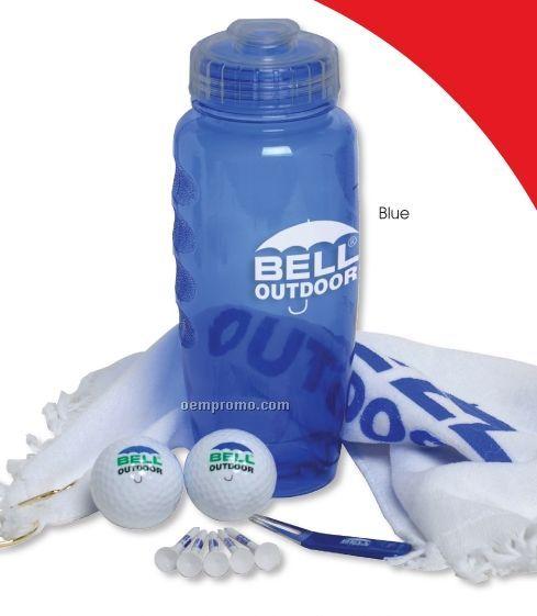 Poly Cool Bottle Golf Kit W/ 2 Pinnacle Gold Precision Golf Balls