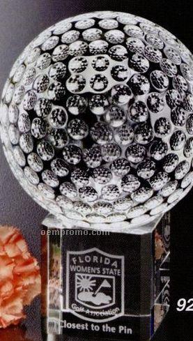 "Sports Gallery Crystal Stratus Golf Award (3 1/8"")"