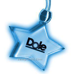 Blinking Star Light Up Necklace W/ Blue LED