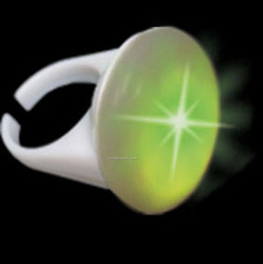 Light Up White Ring W/ Green LED