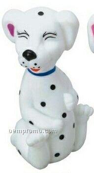 Little Rubber Dalmatian Dog W/ Closed Eyes