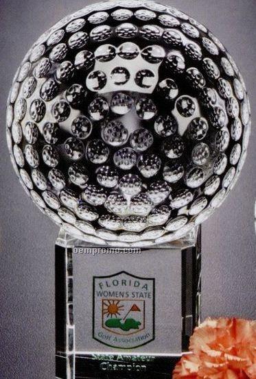 "Sports Gallery Crystal Stratus Golf Award (4"")"