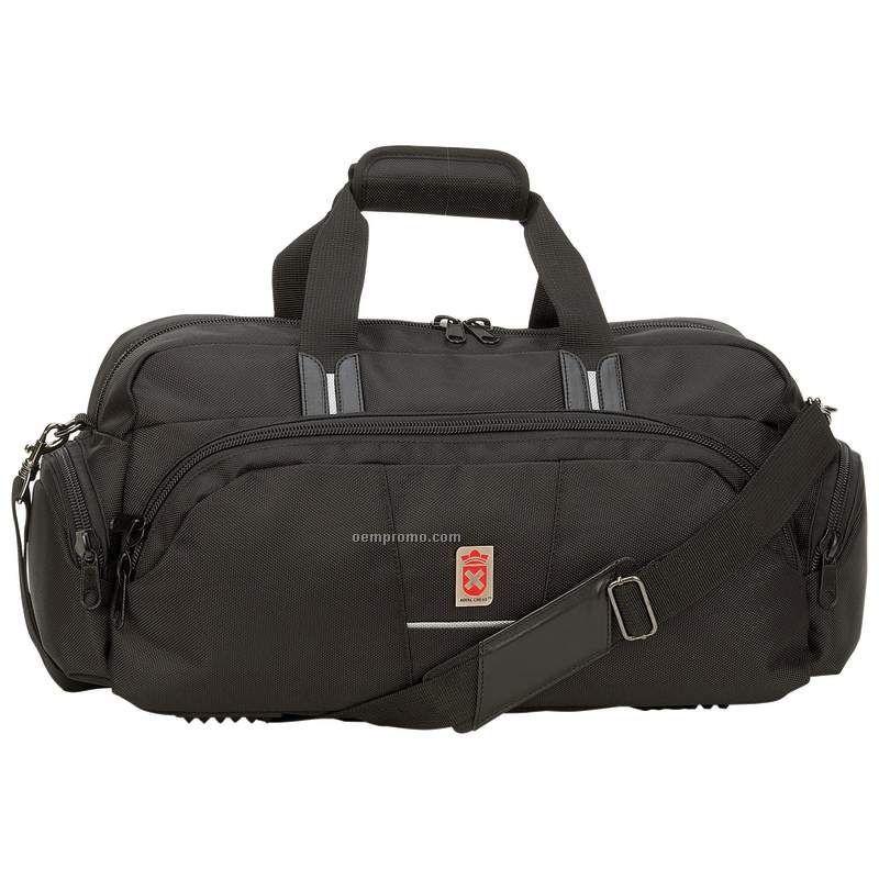 "Black Nylon Tote Bag (19""X10""X7 1/4"")"
