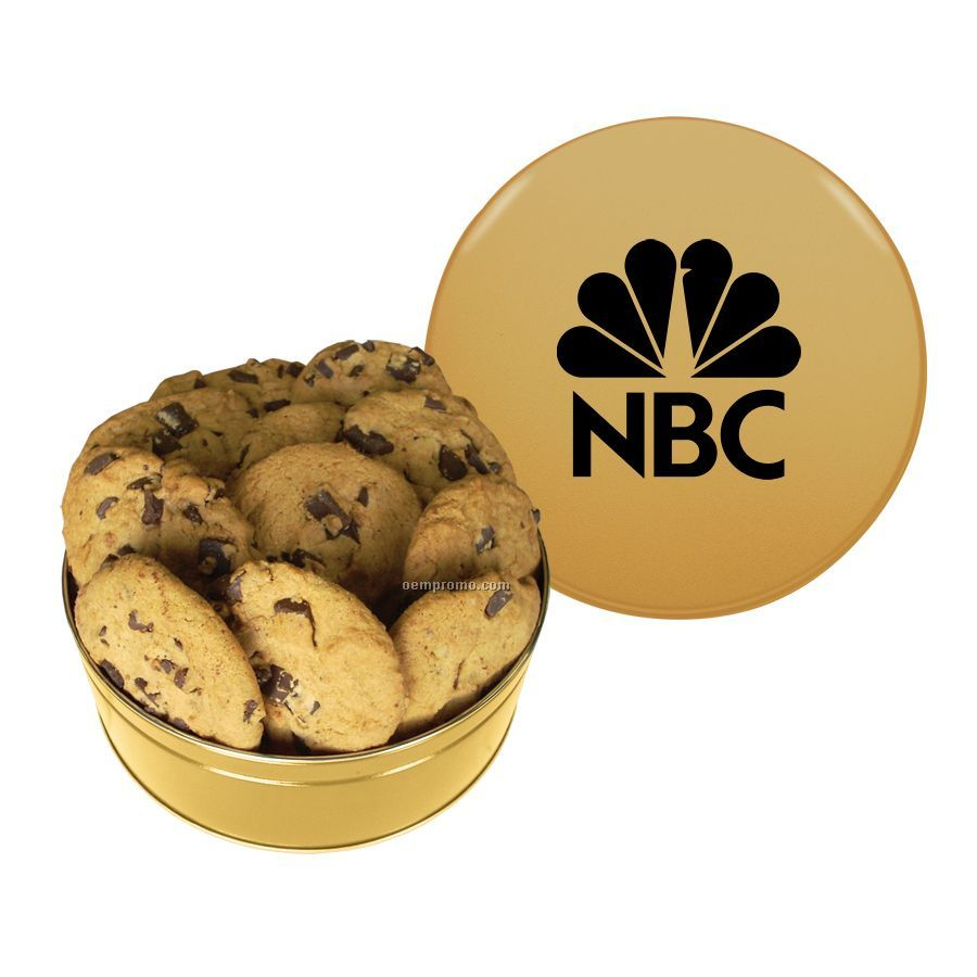 Gold King Size Cookie Tin