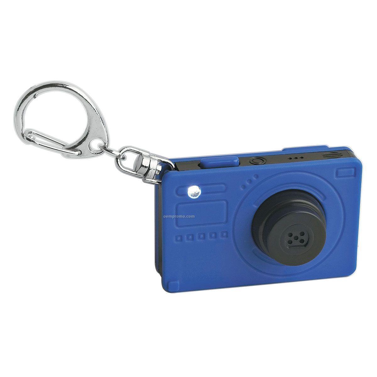 Keychain Camera W/ Light & Sound - Blue