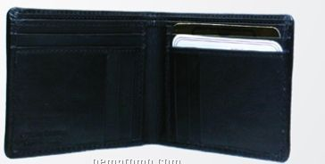 Men's Medium Brown Stone Wash Wallet W/Horizontal Credit Card Slot