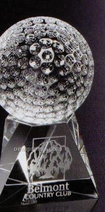 """Sports Gallery Crystal Triad Golf Award (4"""")"""