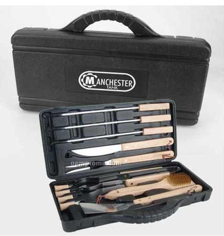 12 Piece Bbq Set In Pvc Carry Case