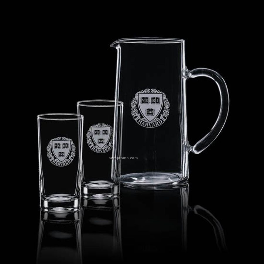 43 Oz. Aristocrat Pitcher With 2 Hiball Glasses