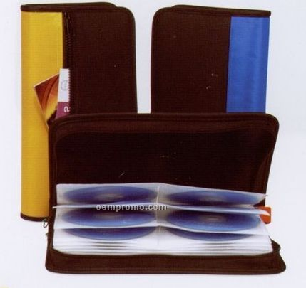 48 Capacity CD / DVD Leatherette Carry Case (1 Color)