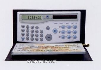 Calculator W/ Checkbook Cover