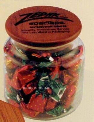 Candy Jar W/ Wooden Lid (16 Oz.)