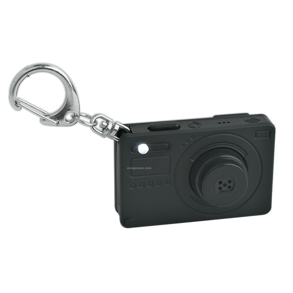 Keychain Camera W/ Light & Sound - Black