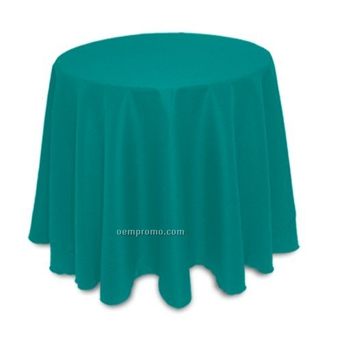 "Recycled Polyester Table Throw - 90"" Round"