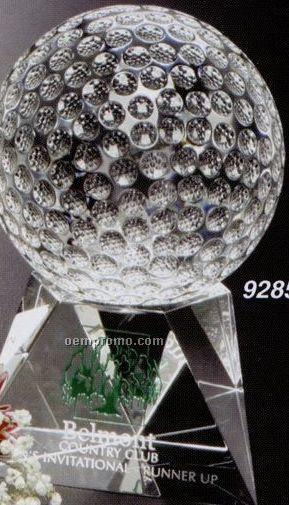 """Sports Gallery Crystal Triad Golf Award (5"""")"""