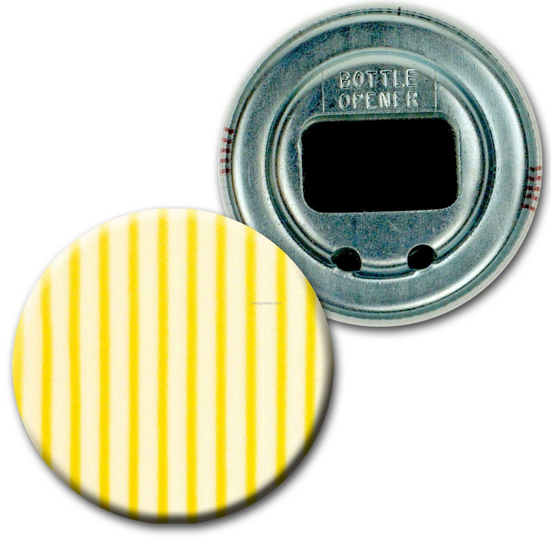 """2"""" Diameter Round Bottle Opener W/3d Lenticular Images (Blanks)"""