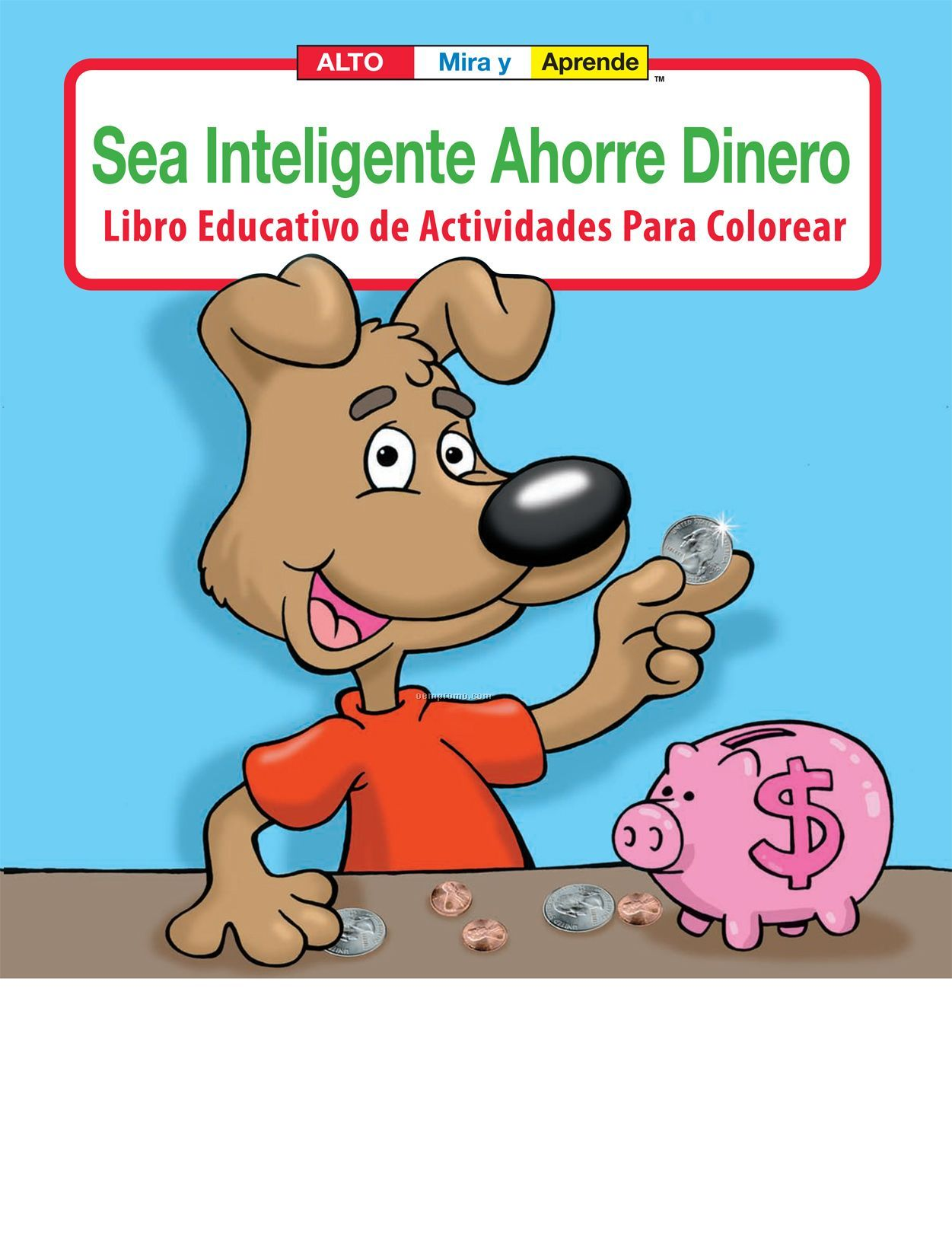 Be Smart, Save Money Spanish Coloring Book Fun Pack