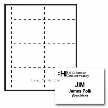 """Classic Name Tag Paper Insert - 1 Color (4""""X3"""")"""