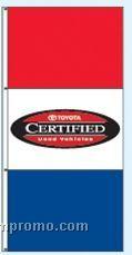 Double Face Dealer Interceptor Drape Flags - Toyota Certified