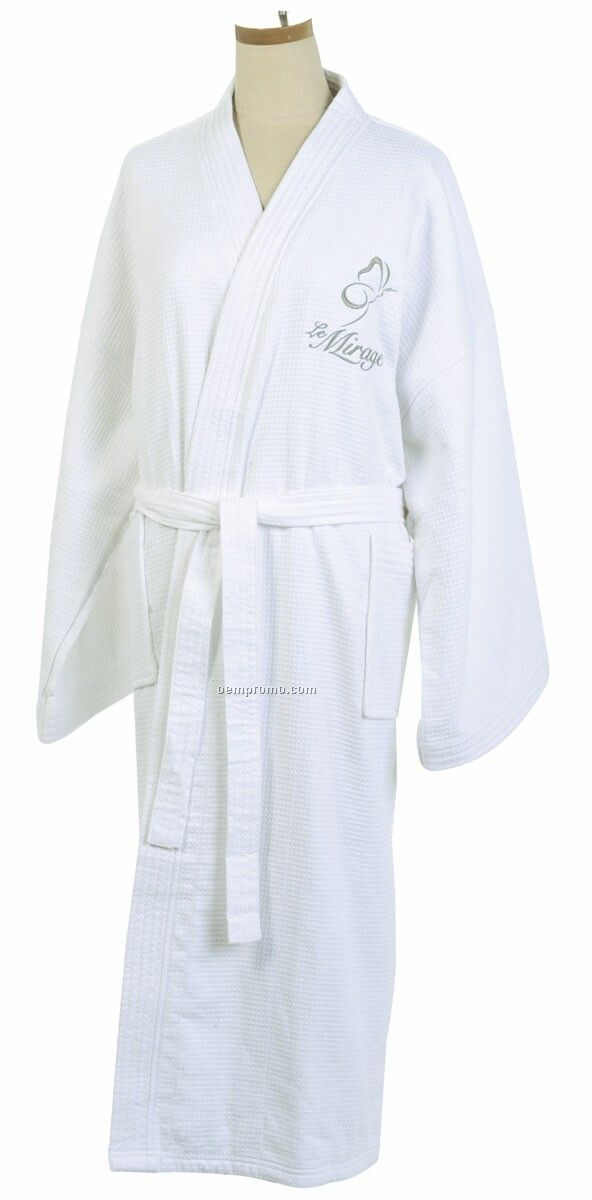 Double Layer Bathrobe - Embroidered