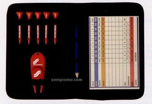 Scorecard Wallet Pro Pack W/ Divot Ball Marker & 5 Golf Tees