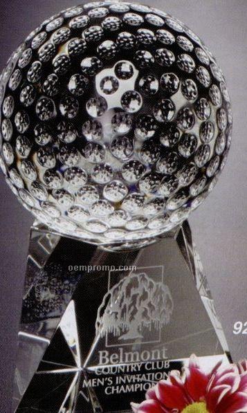 """Sports Gallery Crystal Triad Golf Award (7"""")"""