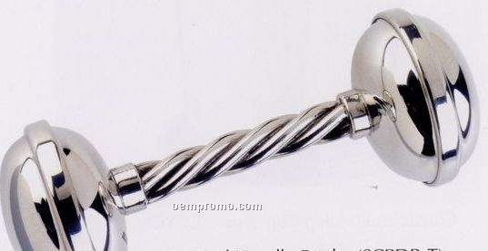 Twisted Handle Baby Dumbbell Rattle