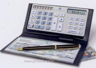 Checkmaster Checkbook Calculator W/ Vinyl Bi-fold Cover