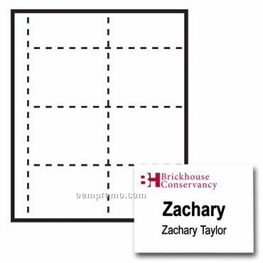"""Classic Name Tag Paper Insert - 2 Color (4""""X3"""")"""