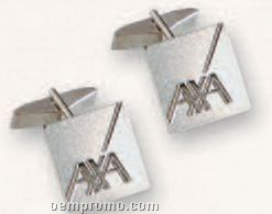 Deluxe Gold Or Silver Tone Cuff Links W/Made In Usa Emblems