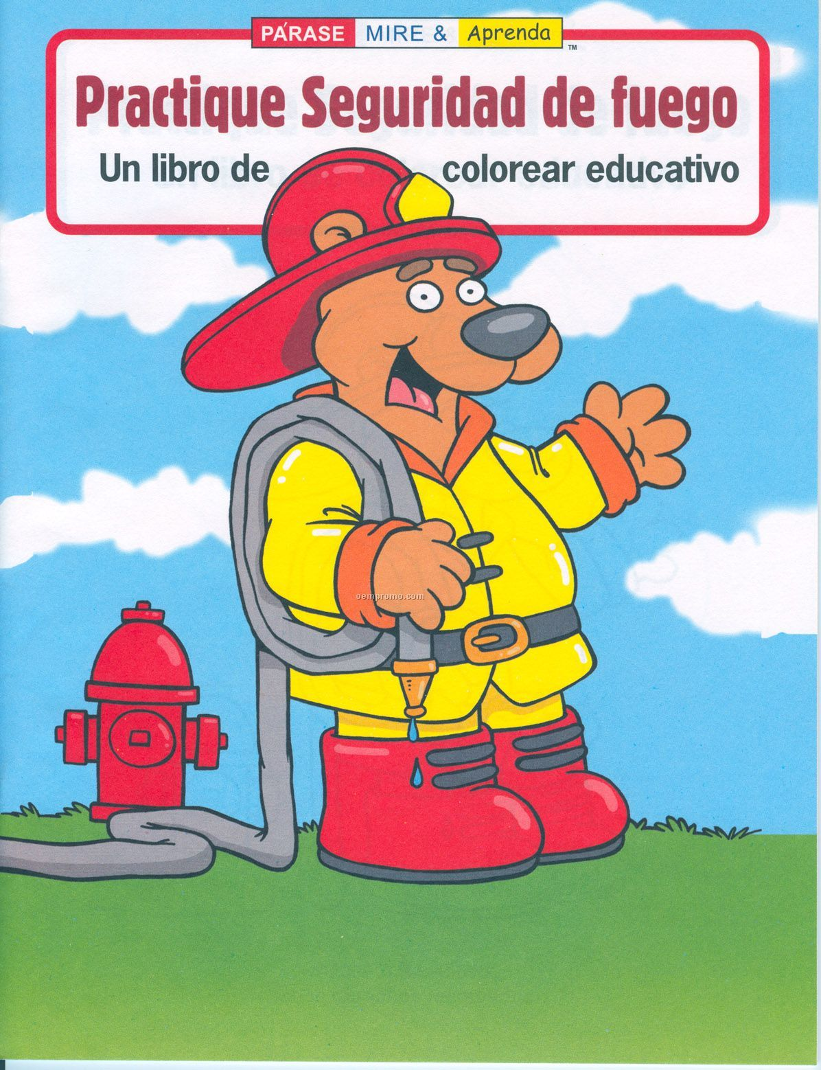 Practice Fire Safety Spanish Coloring Book