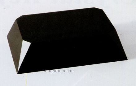 Rectangle Block Black Crystal Base W/ Beveled Sides